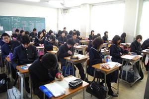 わかやま新報: 向陽 で一足早く授業スタート/ 和歌山