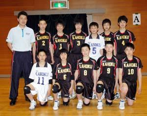 男子準優勝・河北 - 明和男子が5連覇 中学バレーボール選手権