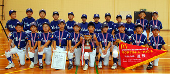 優勝した野上少年野球クラブ
