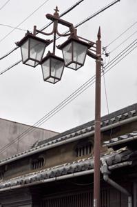 登録有形文化財・多田邸前の街灯