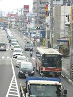 広島の朝の光景=広島市安佐南区西原4
