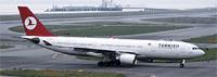 関空に着陸したトルコ航空機(岸村敏充撮影)
