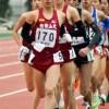 共通男子五千㍍でトップを快走する県代表選手