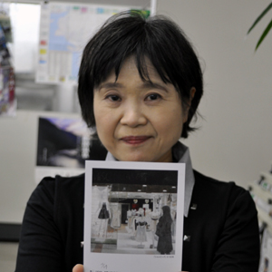 日本画展を開く日本美術院院友、増田淑子さん