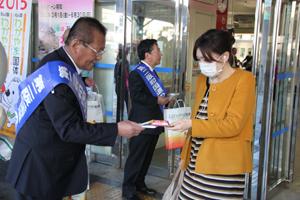 第二阪和国道の早期開通を呼び掛けた