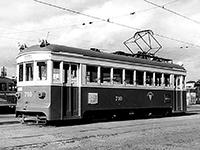 神都線から譲渡された和歌山軌道線(710号)の車両。 昭和40年ごろ、 和歌山市駅前で撮影(小林庄三さん提供)