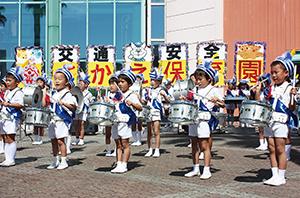 園児のかわいい演奏で運動がスタート(和歌山北署)