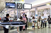 体験搭乗会の記念セレモニー(関西空港にて)