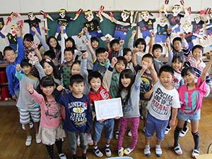 2連覇に笑顔の3年生