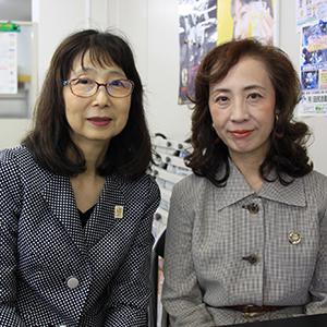 国際ソロプチミスト和歌山の新会長、林登代さん㊧と広報委員長の谷口清子さん