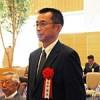 表彰式に出席した坂中さん(大阪市内、大阪国税局提供)