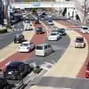はっきりくっきり道路で事故減少に期待(県庁前交差点)