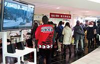南海なんば駅で開催された「南紀・熊野観光物産展」(岸村敏充さん撮影)