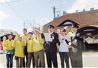 おもてなしを実践する、貴志川線の未来を〝つくる〟会と和歌山電鐵の皆さん