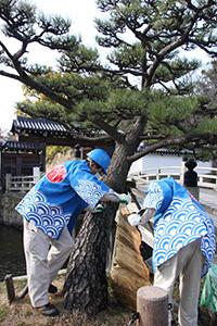 和歌山城整備企画課職員がこもを外す