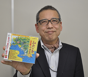 復刻CDをPRするミュージックマートの岩橋和廣さん
