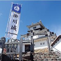 復元された掛川城天守