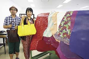 色や光沢に工夫を凝らした和歌山の皮革