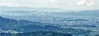 黒沢山から和歌山市街を望む