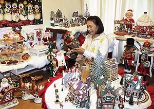 クリスマスの飾り一色の部屋
