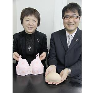 ワコールの岩本克久さん㊨と橋本善恵さん