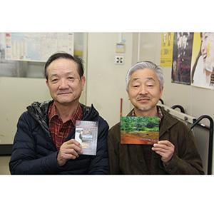 日本風景写真協会(JNP)和歌山第2支部の中尾建夫さん㊧と尾畑敬さん