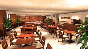 新食堂の完成イメージ
