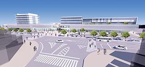 新和歌山市駅の完成イメージ(市提供)