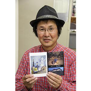 絵画展を開く堤慶さん