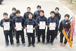 全国優勝を目指して意気込む和歌山北高の選手ら