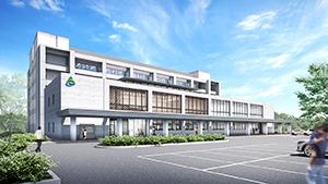 新庁舎の外観イメージ(海南市提供)