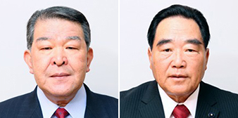 浅井議長㊧、服部副議長
