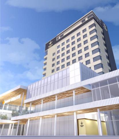 ホテル棟の完成イメージ図