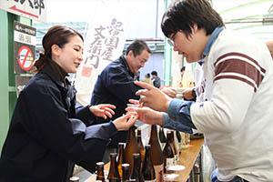全種の日本酒が楽しめる(昨年)
