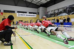 選手権男子の部で優勝した紀の川愛綱会