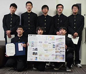 全国ベスト8に入賞した乙組のメンバー