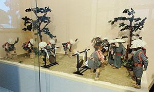 遠州大念仏の模型(犀ヶ崖資料館所蔵)