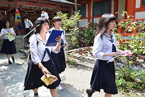 地域の魅力を歩いてチェック(淡嶋神社)
