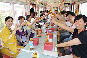 観光列車に乗って乾杯!
