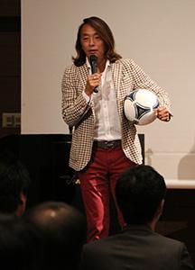 講演する北澤さん