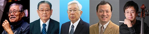左から、さいとう・たかをさん、杉原治さん、玉井済夫さん、金子達雄さん、谷口賢記さん【写真は県提供】