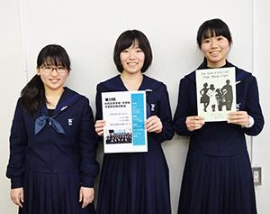 「すてきな舞台に」と(左から)上山さん、宗友さん、東さん
