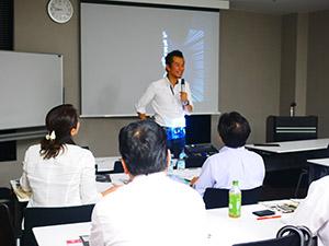 講師の安藤社長(昨年9月のセミナー)