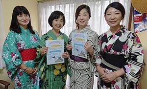 記念イベントをPRするKIYORA和歌山の(左から)川村さん、植野代表、野尻さん、宇治田さん