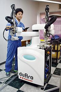 太洋工業が取り扱う2本腕の産業用ロボット