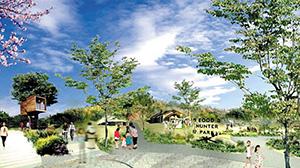 整備が始まる「味覚ゾーン」のイメージ(和歌山市提供)
