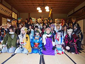 全国から「刀剣乱舞」ファンが温山荘に集まった