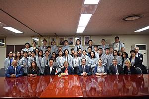 和歌山市を訪れた親善訪問団の皆さん