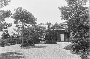 1929年ごろの温山荘園(琴ノ浦温山荘園提供)