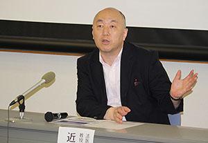 研究成果を紹介する近藤教授